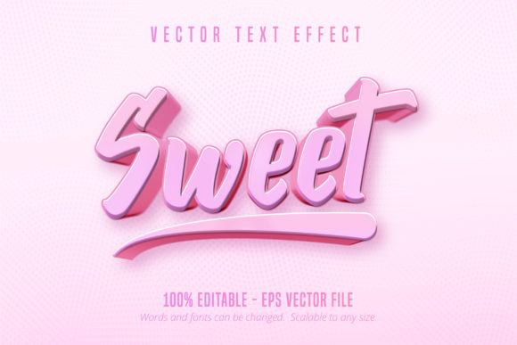 Print on Demand: Sweet Text, Game Styletext Effect Graphic Graphic Templates By Mustafa Bekşen