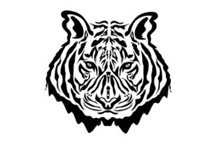 Print on Demand: Tiger Face Art Graphic Crafts By Sasqia Creative
