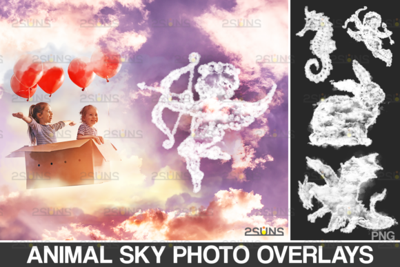 20 Animal Clouds Sky Overlays Graphic Actions & Presets By 2SUNS