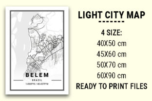 Print on Demand: Belem Light City Map Graphic Photos By tienstencil