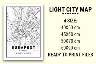 Print on Demand: Budapest Light City Map Graphic Photos By tienstencil