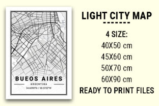 Print on Demand: Bueos Aires Light City Map Graphic Photos By tienstencil