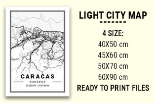 Print on Demand: Caracas Light City Map Graphic Photos By tienstencil