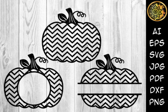 Chevron Pumpkins Monogram Graphic Crafts By V-Design Creator