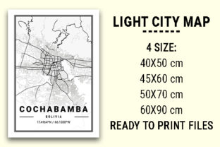Print on Demand: Cochabamba Light City Map Graphic Photos By tienstencil
