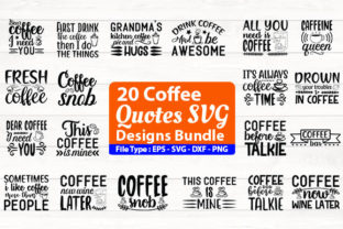 Print on Demand: Coffee Design Bundle Graphic Print Templates By Design Store