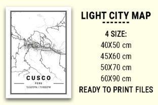 Print on Demand: Cusco Light City Map Graphic Photos By tienstencil