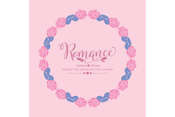 Elegant Romance Card Design Graphic Backgrounds By stockfloral
