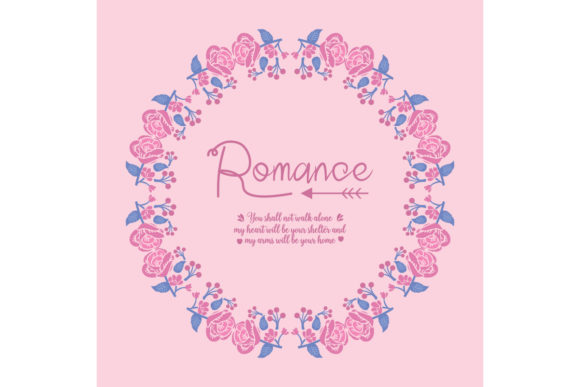 Elegant Romance Invitation Card Design Graphic Backgrounds By stockfloral