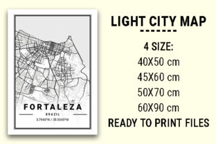 Print on Demand: Fortaleza Light City Map Graphic Photos By tienstencil