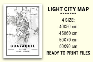 Print on Demand: Guayaquil Light City Map Graphic Photos By tienstencil