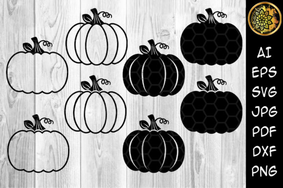 Halloween Pumpkin Silhouette Graphic Crafts By V-Design Creator
