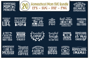 Print on Demand: Homeschool Mom Design Bundle Graphic Print Templates By GraphicsBooth