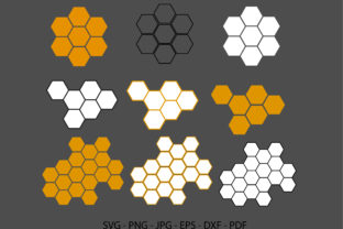 Honeycomb Logo Graphic Crafts By RedCreations