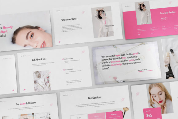 Print on Demand: Makeup Artist Keynote Template Graphic Presentation Templates By Giant Design