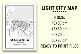 Print on Demand: Managua Light City Map Graphic Photos By tienstencil