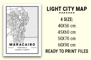 Print on Demand: Maracaibo Light City Map Graphic Photos By tienstencil