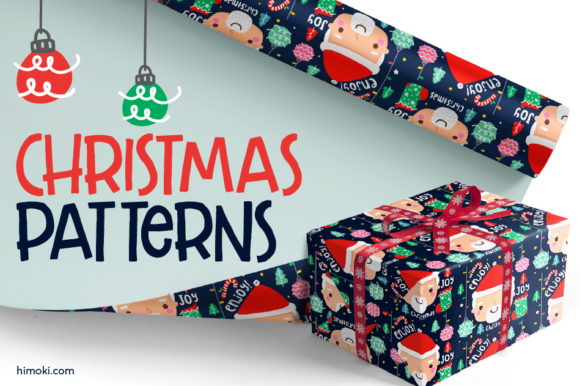 Merry Christmas Patterns Graphic Patterns By himoki
