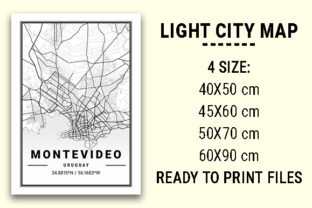Print on Demand: Montevideo Light City Map Graphic Photos By tienstencil