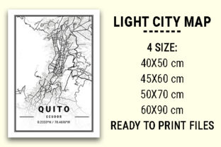 Print on Demand: Quito Light City Map Graphic Photos By tienstencil