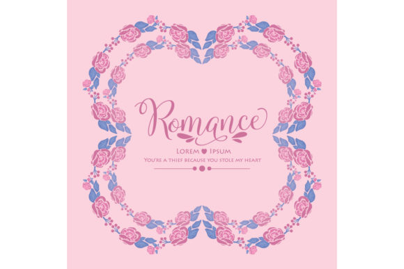 Romance Greeting Card Template Concept Graphic Backgrounds By stockfloral