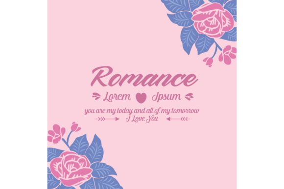 Romance Greeting Card Template Design Graphic Backgrounds By stockfloral