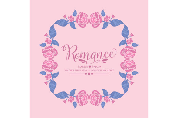 Romance Invitation Card Design Graphic Backgrounds By stockfloral