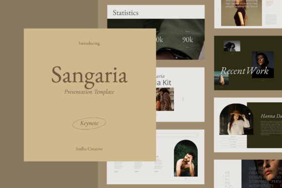SANGARIA - Keynote Template Graphic Presentation Templates By sodhacreative