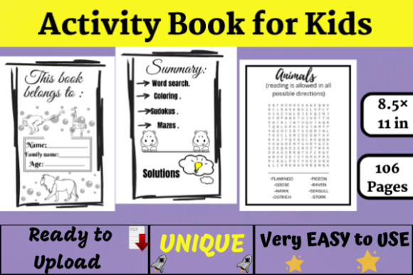 Activity Coloring Book for Kids ( KDP ) Graphic KDP Interiors By Wiss_Tips designs