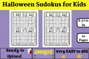 Halloween Sudoku for Kids (KDP) Graphic KDP Interiors By Wiss_Tips designs