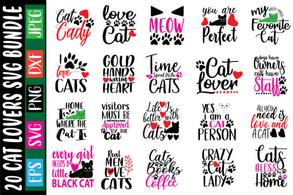 20 Cat Lovers Bundle Graphic Crafts By Graphics Home.net