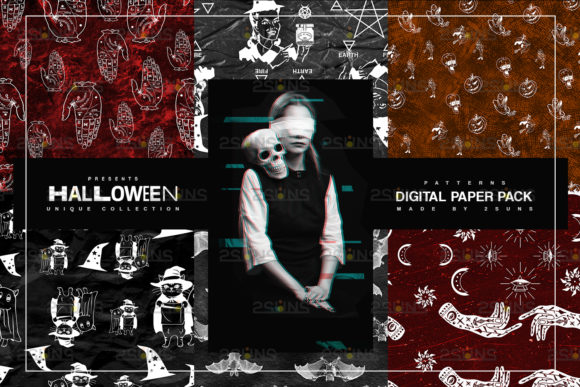22 Halloween Digital Papers Graphic Patterns By 2SUNS