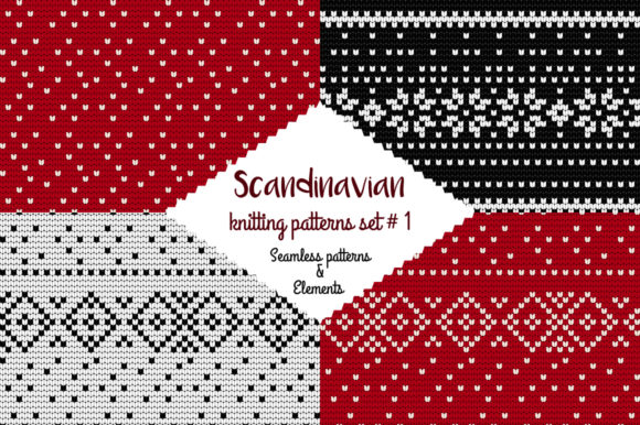 30 Scandinavian Knitting Patterns #1 Graphic Patterns By Snowstorm's Box