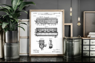 Print on Demand: Air Pressure for Brewing Beer Patent Art Graphic Illustrations By Antique Pixls