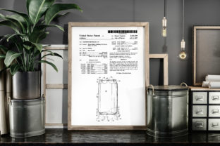 Print on Demand: Aluminum Beverage Can Patent Art Poster Graphic Illustrations By Antique Pixls