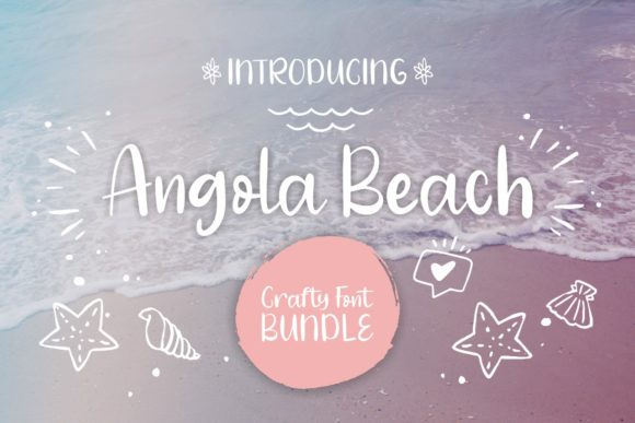 Print on Demand: Angola Beach Script & Handwritten Font By Mozarella