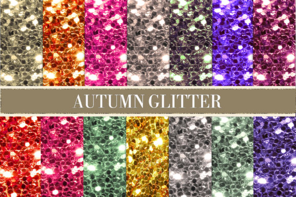 Print on Demand: Autumn Glitter Digital Paper Graphic Textures By The Rose Mind