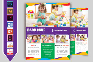 Print on Demand: Baby Care Flyer Vol-02 Graphic Print Templates By Imagine Design Studio