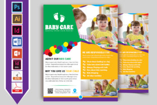 Print on Demand: Baby Care Flyer Vol-03 Graphic Print Templates By Imagine Design Studio