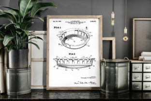 Print on Demand: Beer Cap 1965 Vintage Patent Poster Art Graphic Illustrations By Antique Pixls