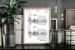 Print on Demand: Beer Faucet 1951 Patent Poster Blueprint Graphic Illustrations By Antique Pixls