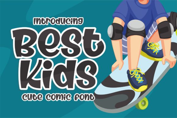 Print on Demand: Best Kids Display Font By awansenja.type