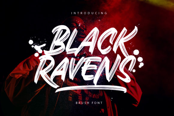 Print on Demand: Black Ravens Display Font By Arterfak Project