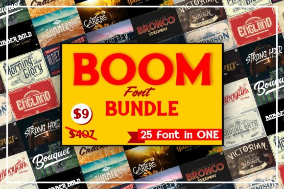 Boom Fonts Bundle  By inumocca_type