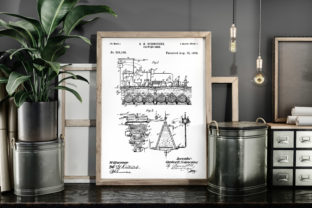 Print on Demand: Brewing Beer 1893 Patent Art Poster Graphic Illustrations By Antique Pixls