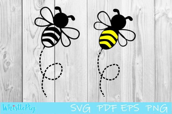 Print on Demand: Bumble Bee Set Bundle Graphic Crafts By Whistlepig Designs