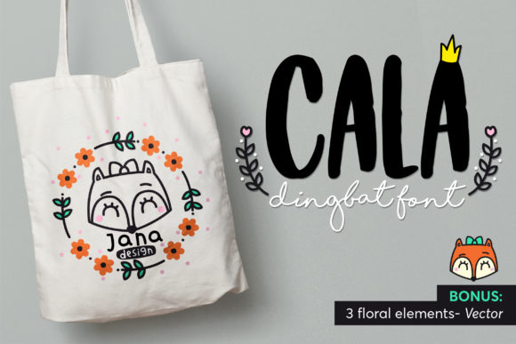 Print on Demand: Cala Dingbats Font By himoki