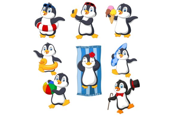Cartoon Penguins Clipart Graphic Illustrations By tigatelusiji