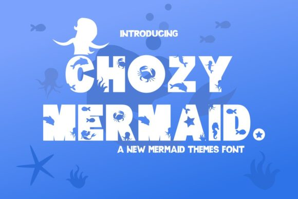 Print on Demand: Chozy Mermaid Display Font By Pidco.art