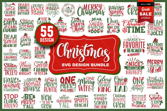 Print on Demand: Christmas Bundle Vol.1 Graphic Crafts By PrintableSvg